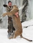 Cougar, Mountain Lion, Idaho Outfitters, Russell Pond Joe Cabral guided Boone and Crockette